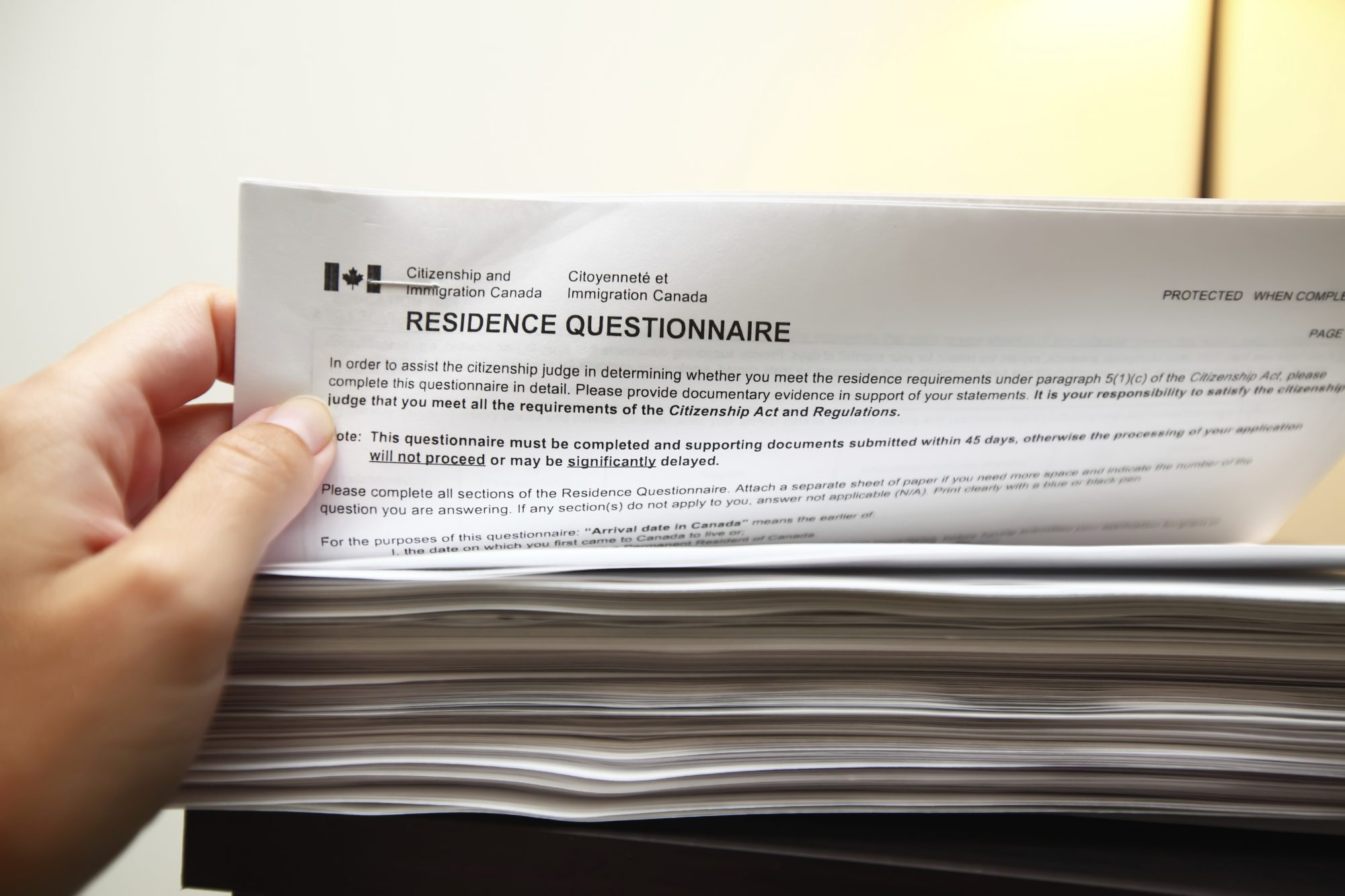 Residence Questionnaire